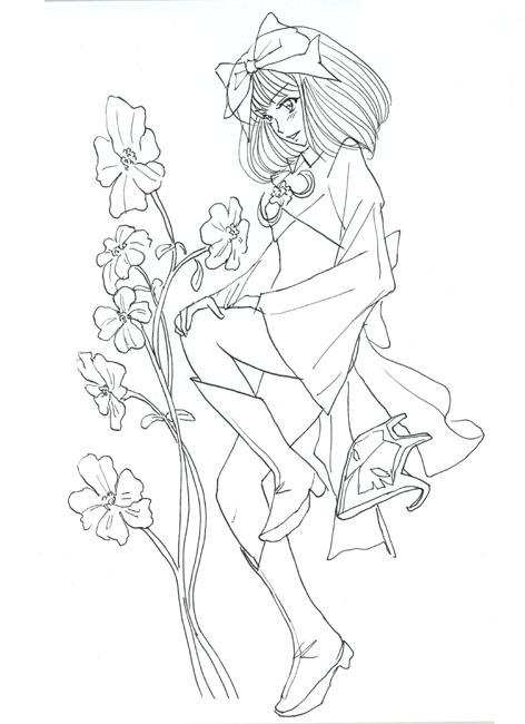 一葉と花と仮面pen80150.jpg